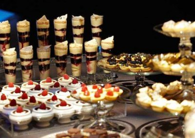Dessert buffet at year end function facilities